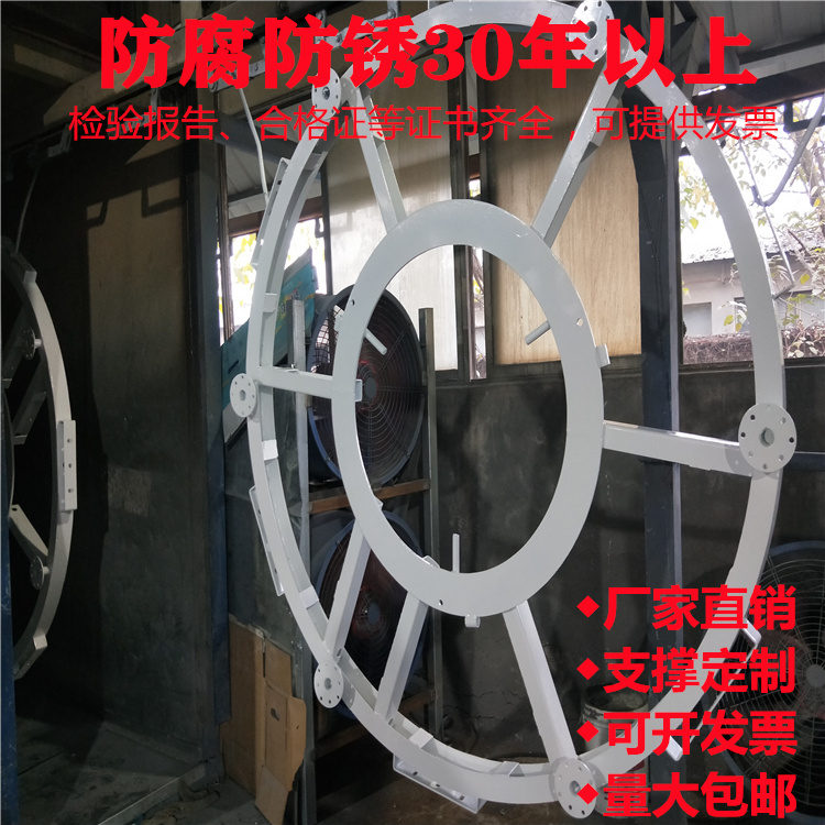 射洪县水位监测计立杆6.5*7米枪机球机室外安装监控杆包运输包卸货