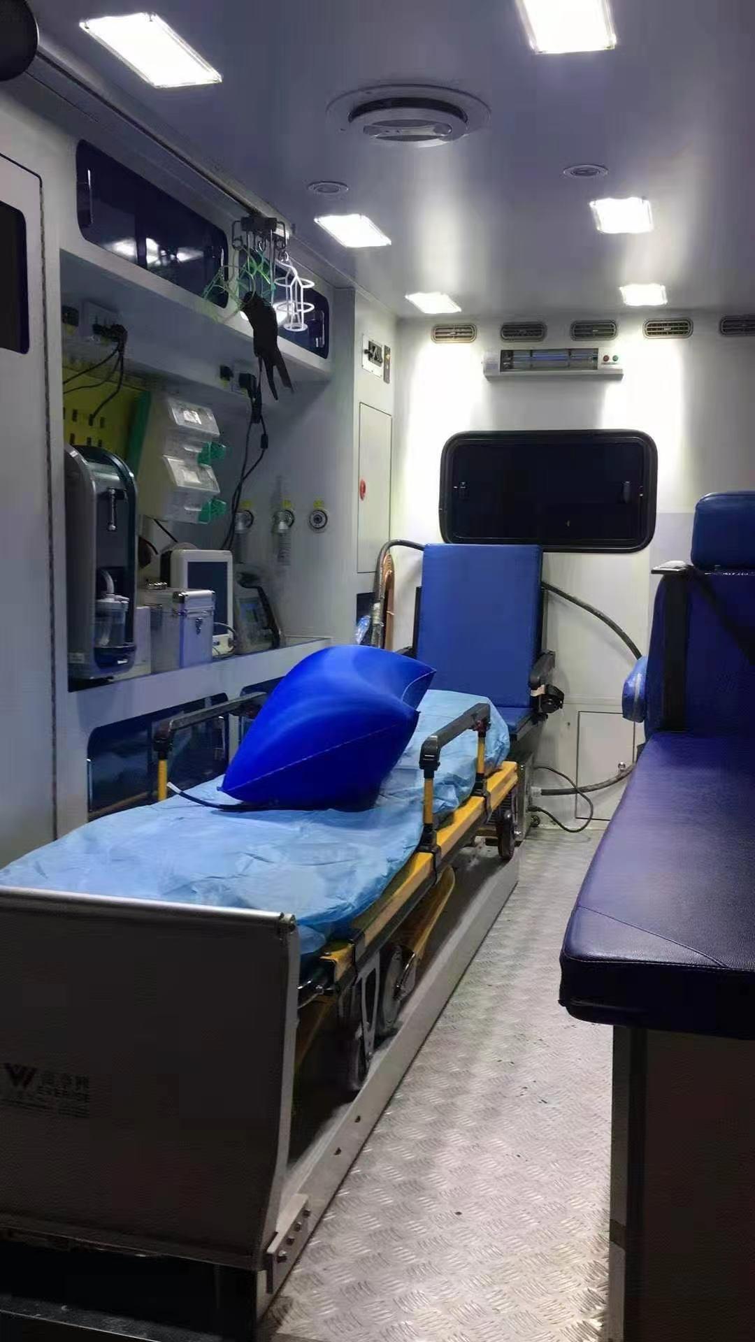 曲靖长途120救护车(24小时)租赁—全国各地均可转运