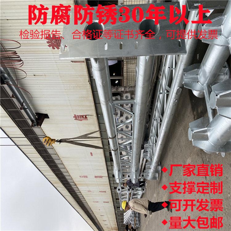 自贡市荣县大气臭氧监测治超限速抓拍监控立杆100年不生锈的立杆在这里