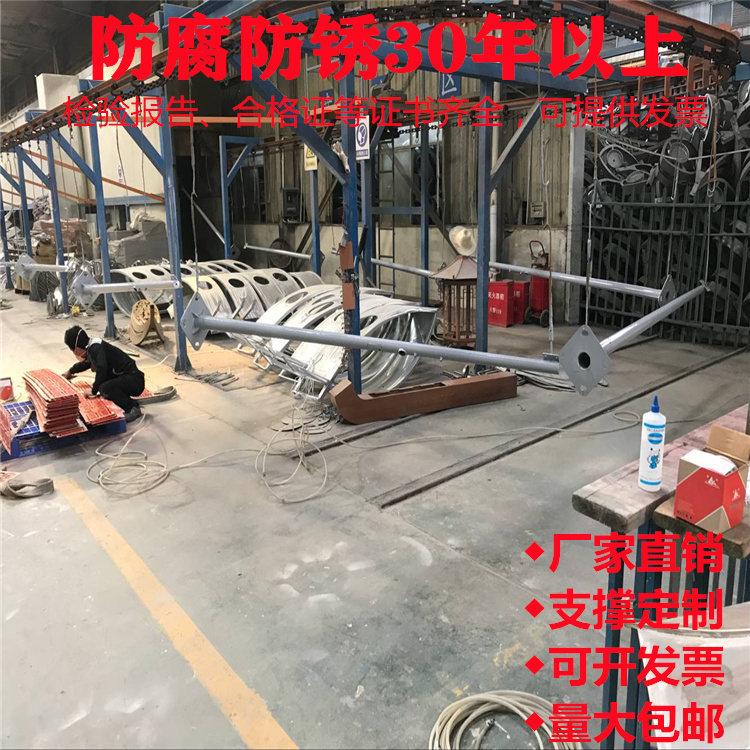 成都市青羊区雾霾监测5*0.5米热镀锌金属喷塑室外球机枪机监控杆包土建安装