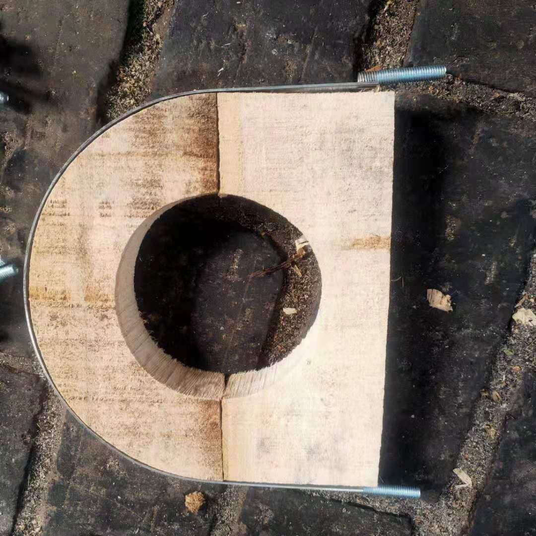 普洱墨江聚氨酯木托块管卡厂家