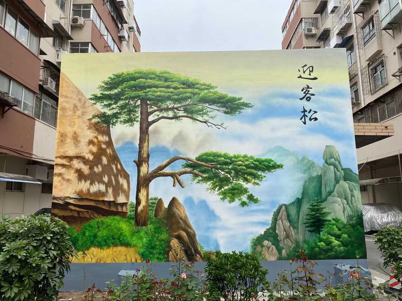 梅州餐馆墙面绘画墙体彩绘施工