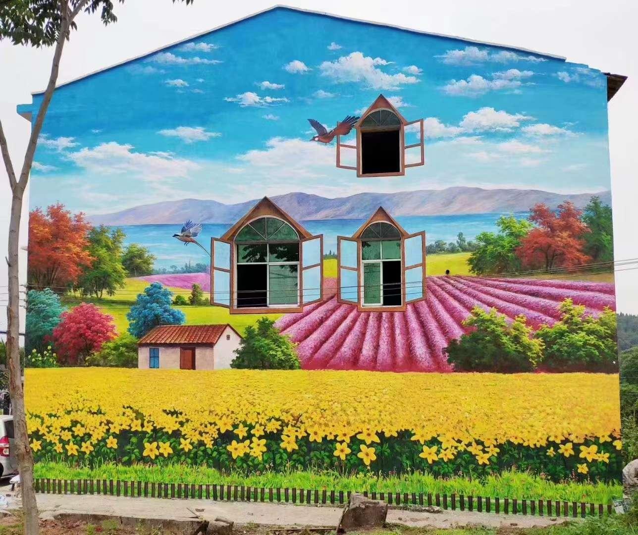 焦作墙体彩绘小区改造壁画施工