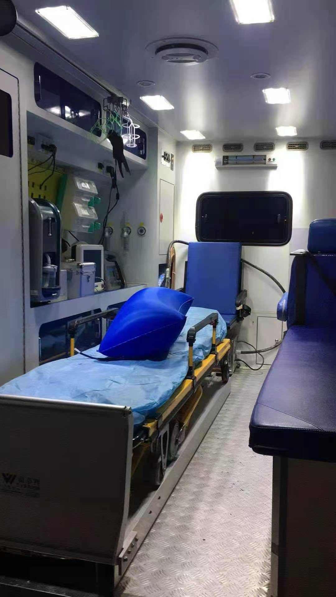 鄂州长途救护车接送—石家庄长途救护车接送