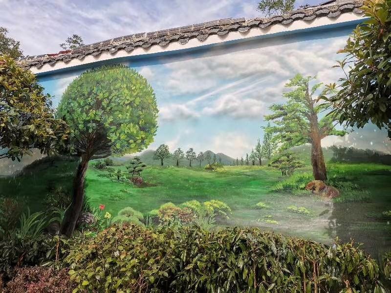 杭州特色墙绘形象墙背景墙画施工