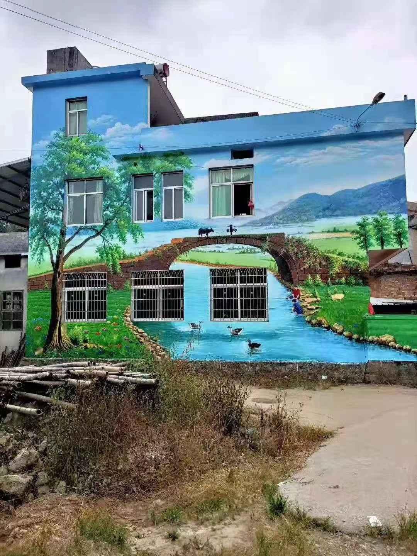 贵阳文明主题墙彩绘墙绘施工