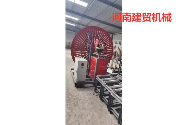 昆明全自动钢筋弯圆机360度自动焊弯圆机-原材