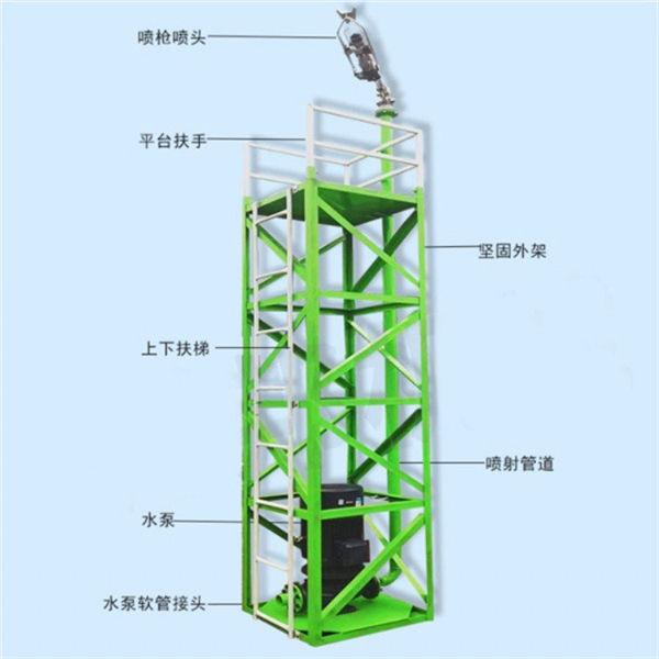 湖南永州 炮塔喷淋机格构式消防炮塔 高射程建筑工地