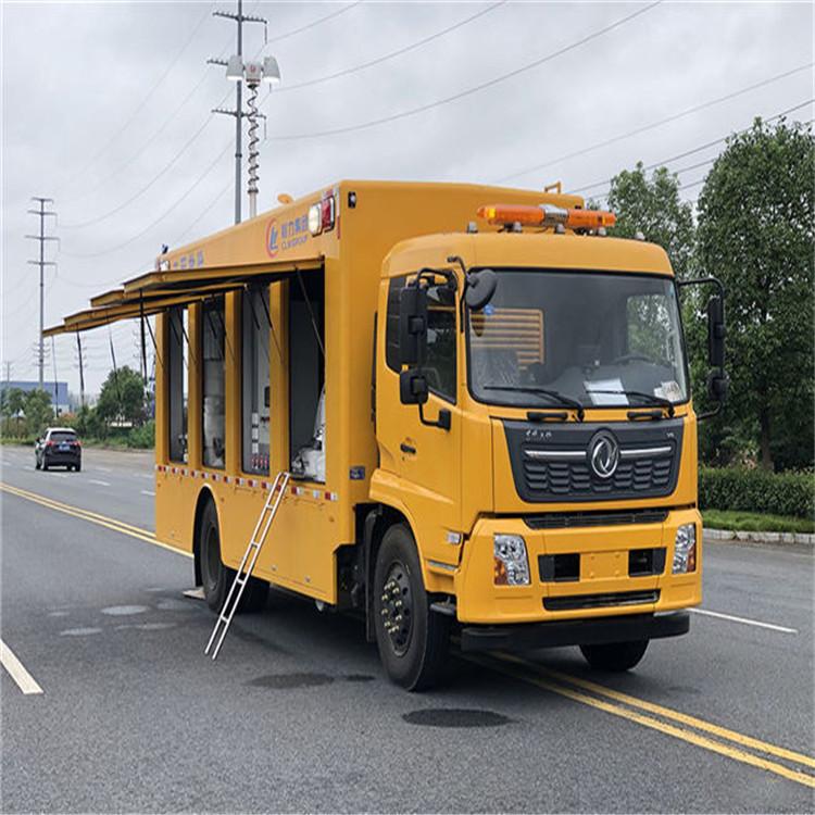 庆铃五十铃双排座移动救险车 电力工程供电车技术支持