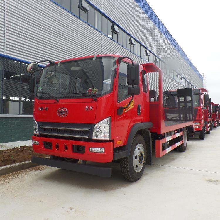 内蒙古乌兰察布挖土机运输车蓝牌4.2米拖车钩机拖车厂家直销