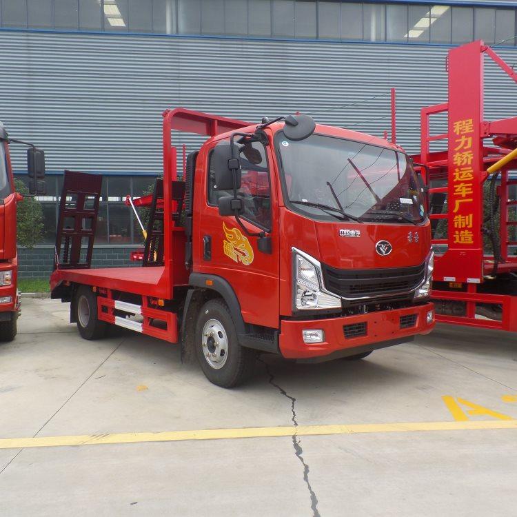 林芝程力低凹挖机板运输车60挖机拖板车价格挖机拖车询价