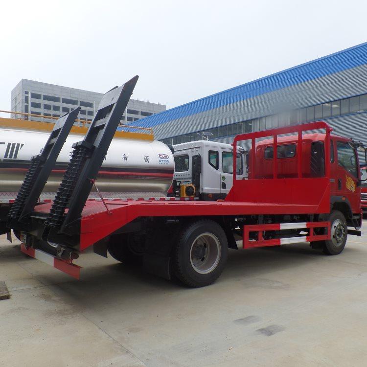 长治顺程力低凹挖机板运输车60挖机拖板车价格挖机拖车询价