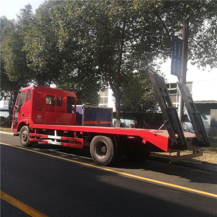 泸州纳溪东风d8板长5.1米板拖车60挖机拖板车价格挖机拖车询价