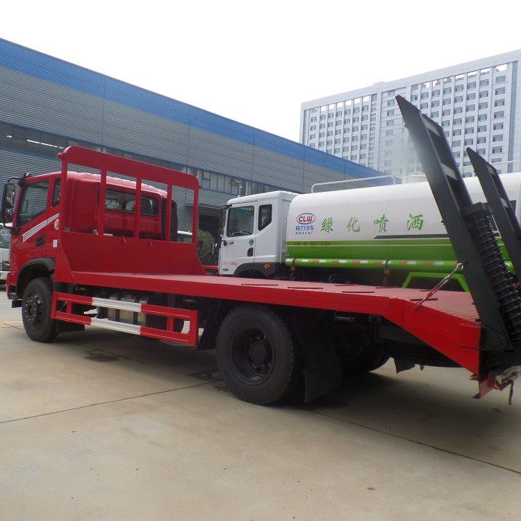 白城镇赉国六豪曼4.2米蓝牌挖机拖车60挖机拖板车价格挖机拖车询价