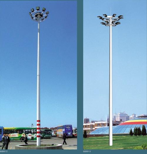 果洛久治20米30米灯杆价格高杆灯厂家一套多少钱