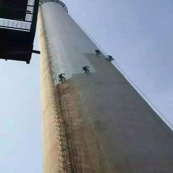 牙克石烟囱刷航标公司-当地实力烟筒美化施工队伍