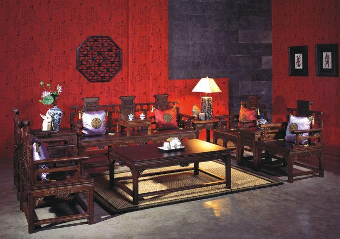 品牌:昌宁现代装修中式家具摆放效果图